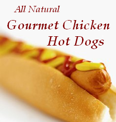 Thin 'n Trim All Natural Gourmet Chicken Hot Dog Products