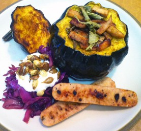 Home :: Recipes :: Chicken Sausage Recipes :: Acorn Squash with Sage ...