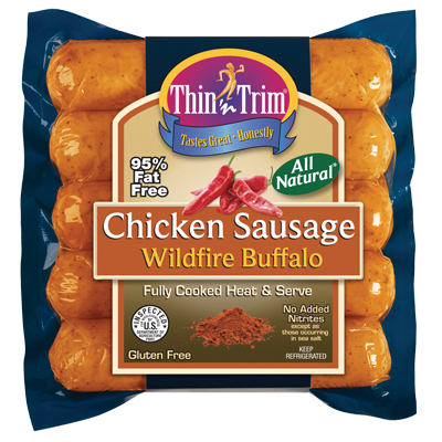 All Natural Wildfire Buffalo Chicken Sausage - Low Sodium, Low Fat ...