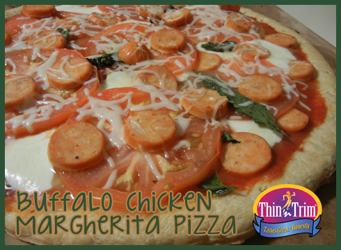 Thin 'n Trim Buffalo Chicken Margherita Pizza