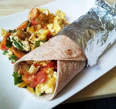 Thin 'n  Trim Buffalo Chicken Sausage Breakfast Burrito