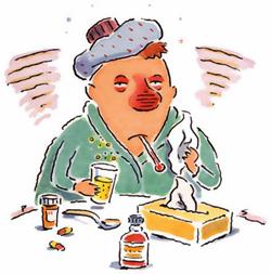 flu cartoon