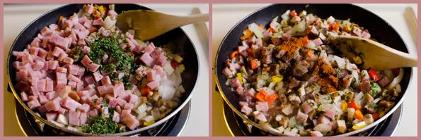 Zucchini - Pan - Veggies & Ham