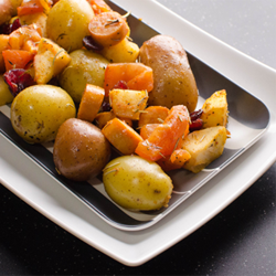 Roasted-Chicken-Hot-Dog-New-Potatoes
