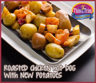 Roasted-Chicken-Hot-Dog-with-New-Potatoes