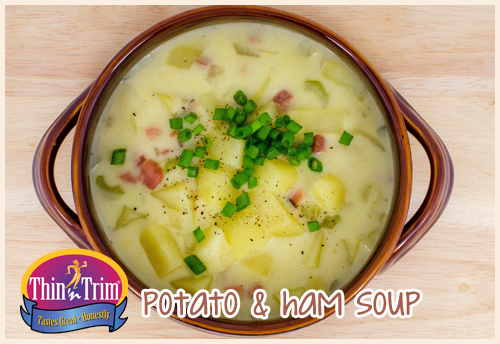 Potato & Ham Soup | thinntrim.com