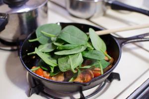 polenta spinach